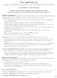 Resume Objective Section Sample Example Nursing Resume Objectives Sample Public Health Nurse ...