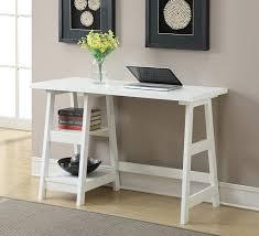 com convenience concepts designs2go trestle desk white kitchen dining