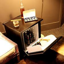 mini fridge disguised as an end table genius i want refrigerator minien cave