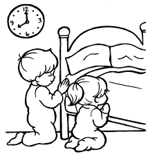 Small Picture Children Praying Coloring Pages for Kids Drawing tips