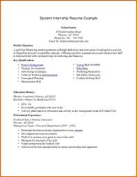 How To Write An Internship Resume 14 Picture Ideas Of Internship Cv Template Template Designs