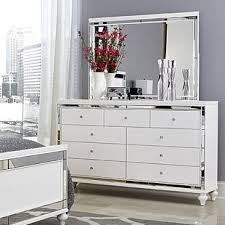 Vegas white glass mirrored bedside tables Mirrored Dresser Awesome Design Ideas White Mirrored Furniture Savona Chest Drawer Glass Online Bedroom Wood And Decoist Pleasurable White Mirrored Furniture Dressers You Ll Love Wayfair