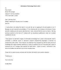 Information Technology Cover Letter Template Free Word Doc Resume