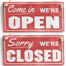 Close Door Sign. Come In We\u0027re Open / Sorry Closed Retro Handmade Wood