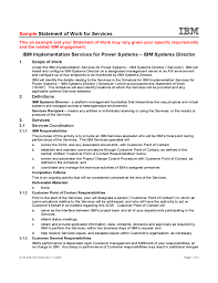 It Statement Of Work Sample Statement Of Work For Services Ibm Free Download