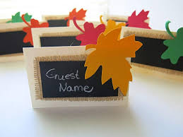 Fall Place Cards Amazon Com 8 Thanksgiving Tent Escort Cards Fall Leaves