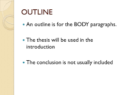 outline for a five paragraph essay ppt 4 outline