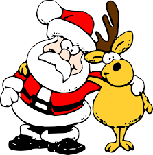 Image result for santa claus reindeer