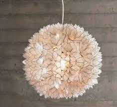 lotus flower chandelier capiz s