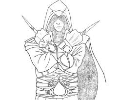 10 Assassins Creed Coloring Page
