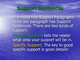 support sentences the essay has support paragraphs while the  support sentences the essay has support paragraphs while the paragraph has support sentences