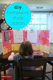 24 back to school organization ideas diy homework study station