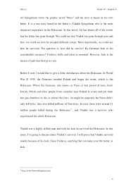 essay julia li grade 10 english aart spiegelman wrote the graphic novel ldquomausrdquo and the story is based on his ownfather it is a true story based on his father s