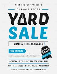 Unique Yard Sale Flyer Design Template In Word Psd Illustrator