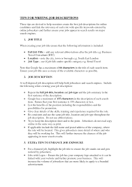 descriptions for resumes template descriptions for resumes