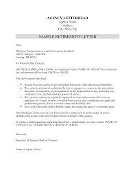 retirement letters retirement letters 5438