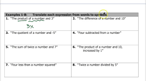 1 7 translating expressions equations inequalities