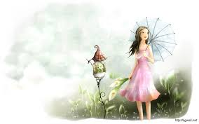 Pretty Wallpaper Cute Girl Cartoon ...