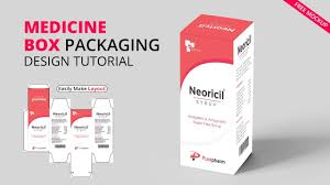 Box Design Template Illustrator Medicine Box Packaging Illustrator Tutorial How To Make Packaging Dieline Layout Die Cut Mh