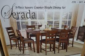 Costco Sale Universal Furniture Serada 9 Piece Square Counter