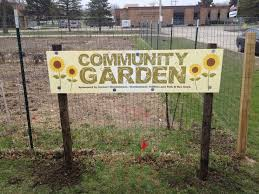 garden sign. print a metal sign and then use natural wooden frame or just posts like these garden