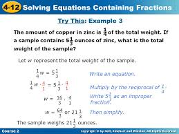 18 solving equations containing fractions