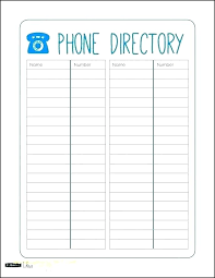 Telephone Directory Sample Home A Business Template Easy To Use Employee Emergency Contact List