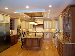 kitchen lighting ideas over island. Ceiling Recessed Lights And Classic Pendant Lamps Over Kitchen Island Butcher Block With Seating For Lighting Ideas