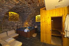 simple sauna design dimension ideas in basement with stone decoration and awesome lighting decor