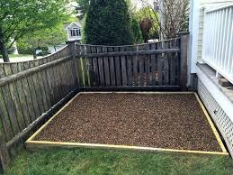 build an outdoor dog potty area on deck pets dog potty