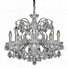 schonbek 1707 23 century 8 light crystal chandelier in etruscan gold with clear heritage crystal