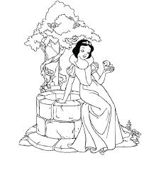 Disney Snow White Coloring Pages Princess Snow White Coloring Pages