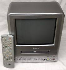 tv with dvd player. item 1 -cleaned+tested- toshiba md9dp1 9\ tv with dvd player