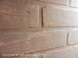 Painting Fake Brick Paneling Budget Friendly Painted Brick Backsplash At The Everyday Home