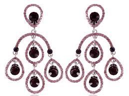 loading zoom crystal purple amethyst violet dangle long costume teardrops chandelier earrings