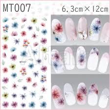 ヤフオク Mt007大判サイズ ネイルシール 花 フラワー カラ