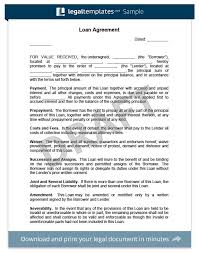 Sample Loan Agreement Between Family Luxury 20 Unique Agreement ...