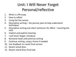 personal reflective writing by emmac teaching resources tes lesson 1 what is a personal reflective essay