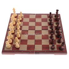 Classic Wooden Board Games Set of Professional Wooden Folding Magnetic Board Chess Pieces 30