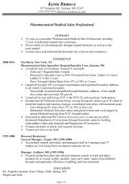 Resume Sample for Pharmaceutical-Medical Sales