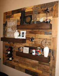 dining room remodel pallet wall floating shelves pallet wall decor ideas walls on diy wood pall