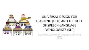 Design For Learning Universal Design For Learning Udl And The Role Of Speech