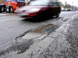 Image result for image of a public road with potholes