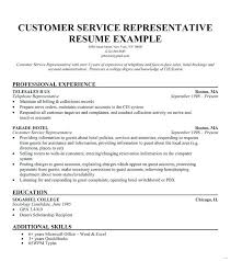 Call Center Resumes Examples Resume Example For Customer Service