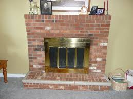 covering brick fireplace awesome