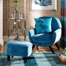 Milano Teal Chair  Footstool Fabulous Occasional Chair And - Occasional bedroom chairs