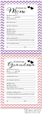 best about mother s day ideas diy mother s day  mother s day questionnaire cute questions to ask children about their mom