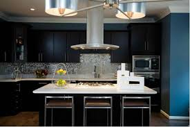 Dark Kitchen with black cabinets