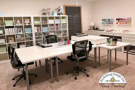 office craftroom tour. Exellent Craftroom I Have Four Ikea Tables And One Martha Stewart Project Desk In The Center  Of My Space This Lets Me Easily Spread Out Kit Materials Friends Over  To Office Craftroom Tour I