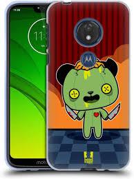 Ecell Head Case Designs Head Case Designs Scary Panda Kawaii Zombies Soft Gel Case Compatible For Motorola Moto G7 Play